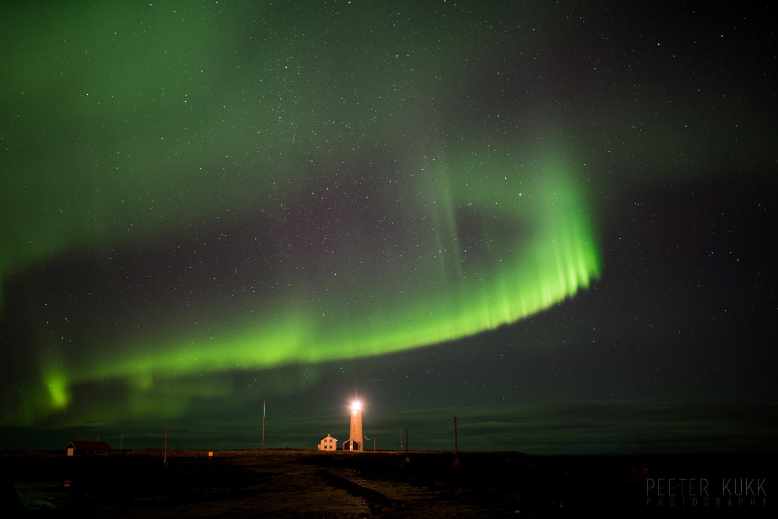 Auroras near Reykjavik